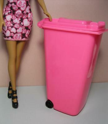 Barbie doll Glam Home My Fancy Life Take out the Trash Garbage Can RECYCLE BIN !