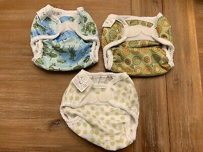 3 Brand New Bummis Small Cloth Diaper Covers