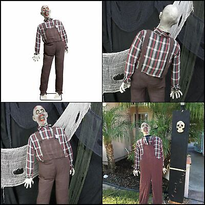 Halloween Decorations Clearance Animated Haunter Life Size Speakin Farmer Zombie