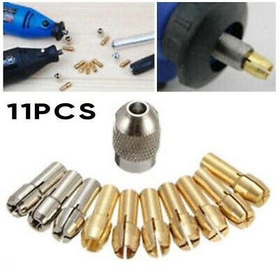 10 Collet Nut Kit Screw Quick Change Tools Part Power Rotary for Dremel Tools