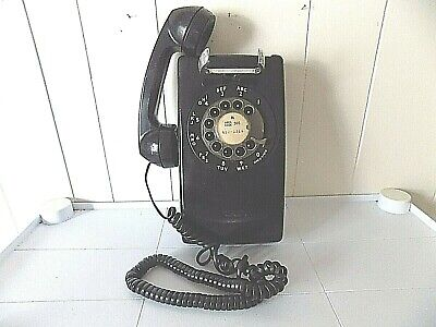 Vintage 1978 Western Electric/Bell System Black Rotary Dial Wall Phone