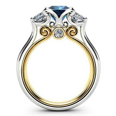Elegant Women's Wedding Rings 925 Silver Princess Ring Accessory Size 6-10