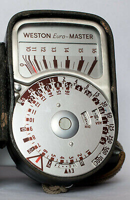 Weston Euromaster lightmeter including case, with invercone in case.