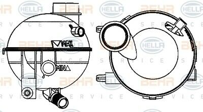 GENUINE BRAND NEW 5 YEAR WARRANTY Febi Expansion Tank Coolant 37324