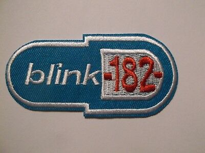 """Blink 182 Embroidered Patch~Alternative Rock Punk~3 1/8"""" x 1 1/2""""~FREE US Mail"""