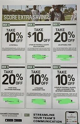 6 Dick's Sporting Goods Coupons Expires 12/31/19 Buy 3 Get 1