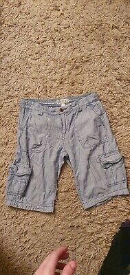 *FAT FACE*  Blue/white -  pinstriped ~cargo pants ~ Size 8