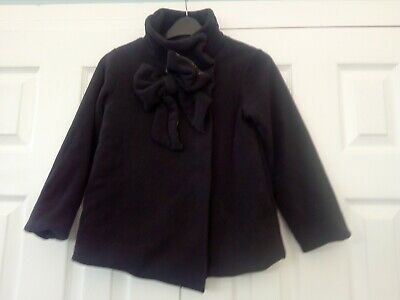 Girls Black Fleece Coat ,lined ,age 9 Years ,height 134 Cm, Next