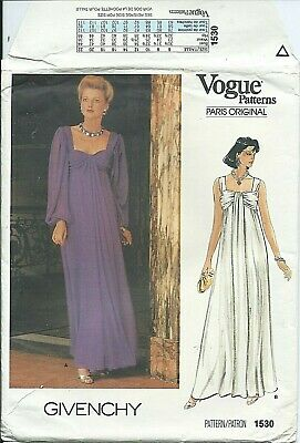 Vogue 1530 sewing pattern Divine DRESS Bombshell GOWN sew GIVENCHY size 16 UNCUT