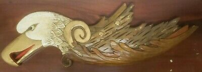 Vintage Folkart Carved Eagle Signed Known Maine Artist Dick Steele As Pictured