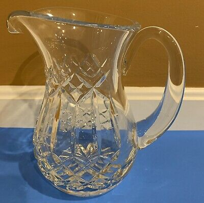 """Waterford Crystal Water PITCHER JUG CARAFE Signed Large 8.5"""" Tall"""