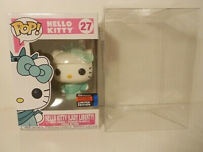 Funko POP! HELLO KITTY(Lady Liberty)#27 w/PROTECTOR 2019 NYCC Exclusive MINT Box