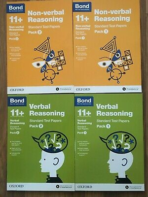 Bond 11 + plus Verbal and Non -Verbal Reasoning Test Packs set (Standard Format)