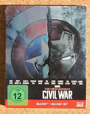 OVP - OoP - 2 DISC - 3D BLU RAY LTD. STEELBOOK - MARVEL - AVENGER CIVIL WAR 3D