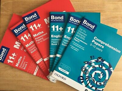 Bond 11+ Plus Assessment and Comprehension Papers English, Maths age 9-10 years