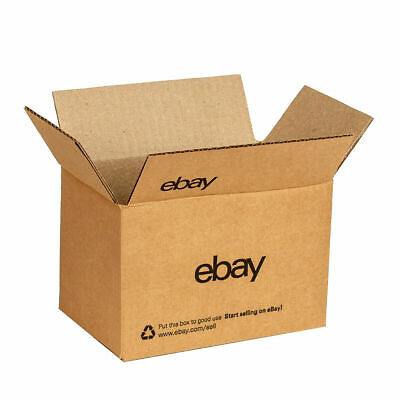 "New Official eBay-Branded 25 x Shipping Boxes with Blue 2-Color Logo 8""x 6""x 4"""