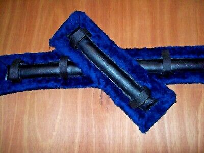 horse drawn buggy,cart,harness wagon Mini /Pony Size Dark Blue Fur Harness Pads!