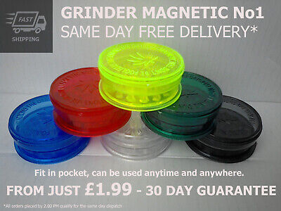 GRINDER MAGNETIC No1 AMSTERDAM - 60mm/Plastic/3 part/Shark Teeth/Extra Storage