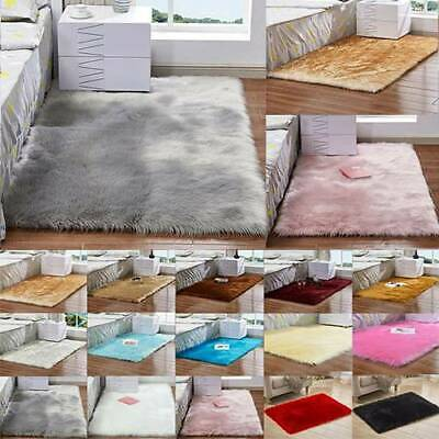Washable Fluffy Rug Carpet Living Room Floor Mats Bedroom Anti-Skid Shaggy Rugs
