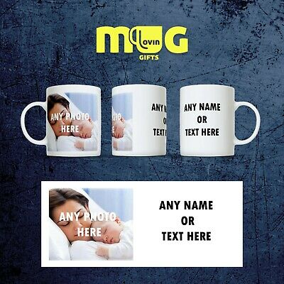 Personalised Photo Mug Cup Gift Custom Text Collage Present Name Christmas P1+T