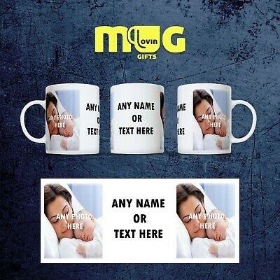 Personalised Photo Mug Cup Gift Custom Text Collage Present Name Christmas P2+T