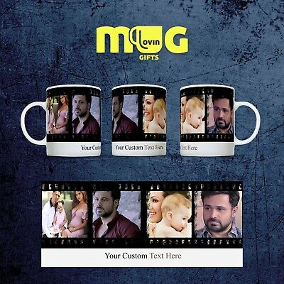Personalised Photo Mug Cup Gift Custom Text Collage Present Name Christmas P4 +T