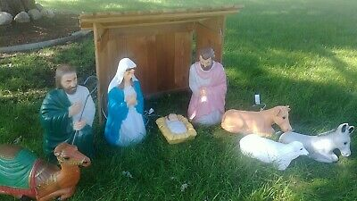 ENCHANTED FORREST KIDS Nativity Manger Set 10 pieces 285