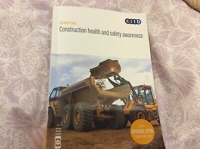 GE707/19 Official CITB Construction Health & Safety Awareness Book. New