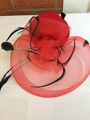 Red Black Hat Facinator £13.99