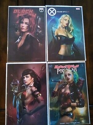 Shannon Maer Vampirella Valentine's Special Black Widow House of X Harley Quinn