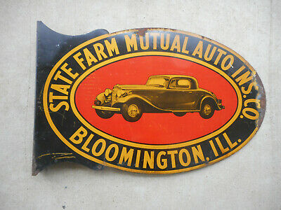 Very Rare Vintage Insurance Auto Sign