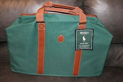 Ralph Lauren Polo Green Carry On Over Night Collapsible Bag NWT 22 X 14 X 9