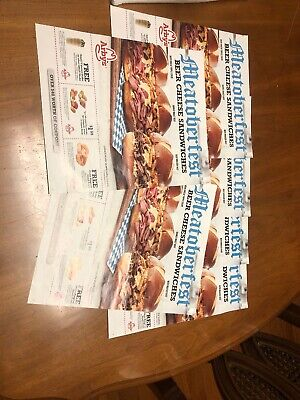 Lot Set 6 Arby's Coupon Flyer Sheets - Expire 10/31 October 31 Meatoberfest