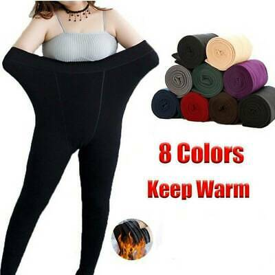 Women's Winter Thermal Thick Warm High Waist Fleece lined Stretch Pants Slim