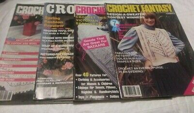 Crochet Fantasy magazines.Lot of 4.  L11