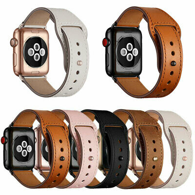 Genuine Leather Replacement Band Strap For Apple Watch Series 5 4 3 2 1 42/44mm