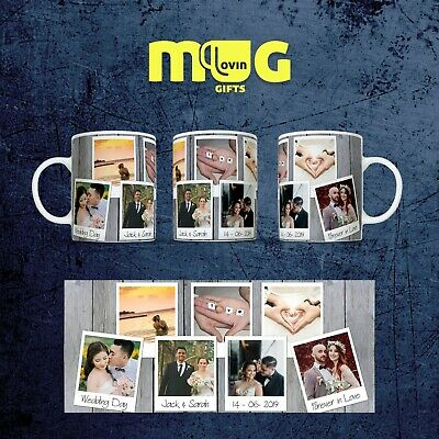 Wedding Family Personalised Photo Mug Cup Gift Custom Text Collage Present Name