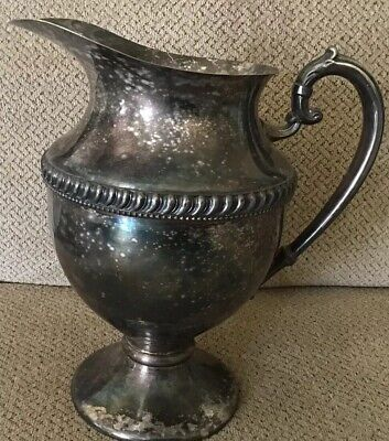 "Lehman Antique Silverplated 9"" Tall Pitcher Pedestal Base"