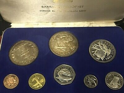 1974 Franklin Mint Barbados Proof Coin Set