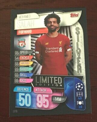 Match Attax 2019/2020 19 20 Mohamed Mo Salah Silver Limited Edition card new