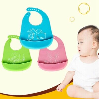 Silicone Feeding Baby Crumb Catcher Wipeable Waterproof Pocket Toddler Lizzj