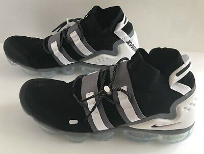 Nike Air Vapormax Flyknit Utility Running Shoes Mens Size 14 Black Gray White