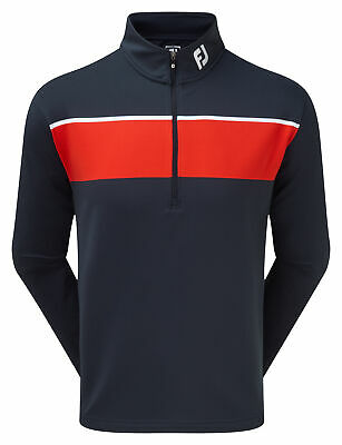 Footjoy Jersey Chest Stripe Chill-Out Pullover Herren navy/rot