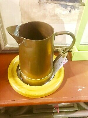 Copper Antique Pitcher Hammered Hand Water Handle Brass Jug Primitive Handmade