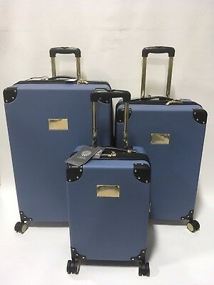 Vince Camuto Elizah 3Pc Luggage Set Spinner Wheels Expandable Blue Msrp 1080