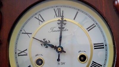antique Wall Clock Sound Chiming with Pendulum Vintage  Brand TIMEMASTER 31 Days