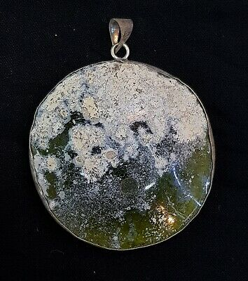 Beautiful Ancient 2000 Years Old Roman Glass Pendant With Wonderful Rare Patina