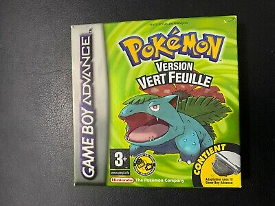 Pokemon Vert Feuille - Nintendo Game Boy Advance - Complet - Tbe + Vip Code