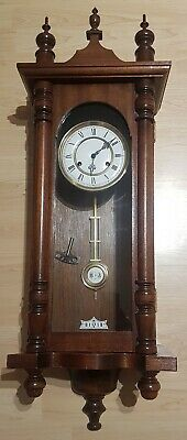 Antique Wall Clock Made In Germany R Arrow Down A Wind Up with key pendulum