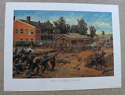Civil War CSA Confederate Decision at the Crossroads Keith Rocco signed # Print